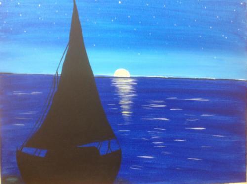 Night Sailboat